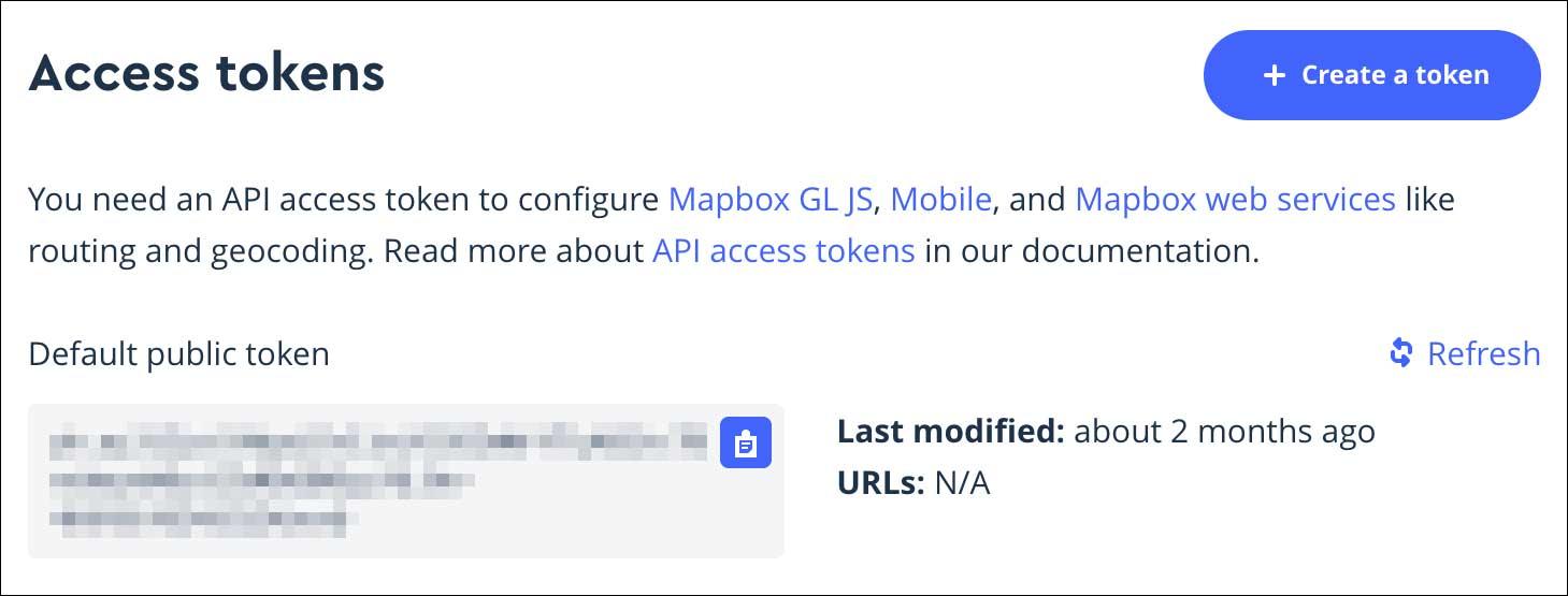 mapbox tokens