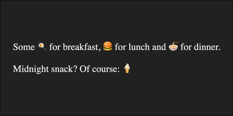Emojis in HTML