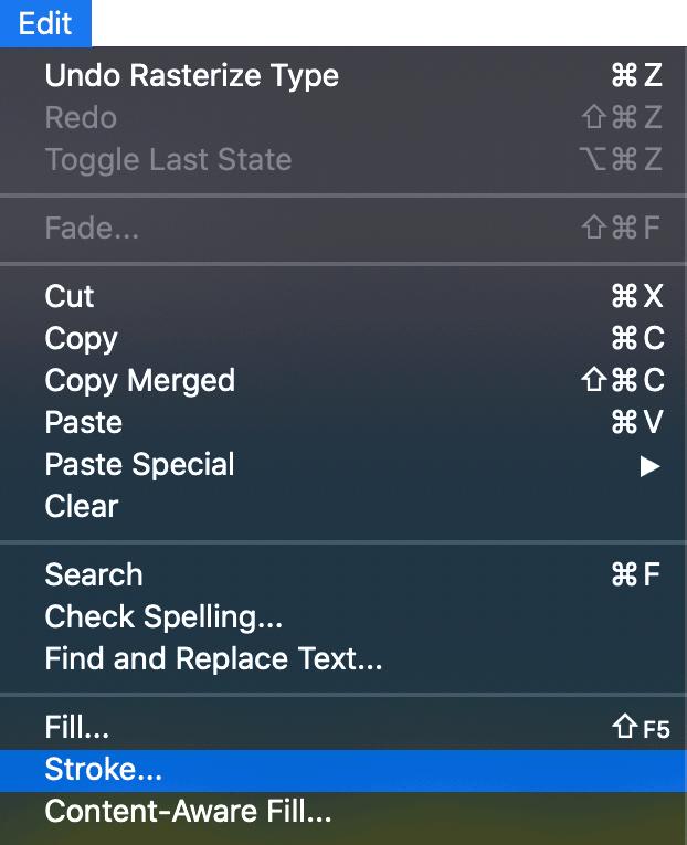 Edit menu